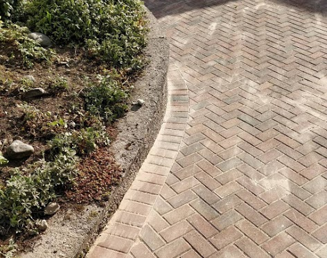 Brickwork driveway