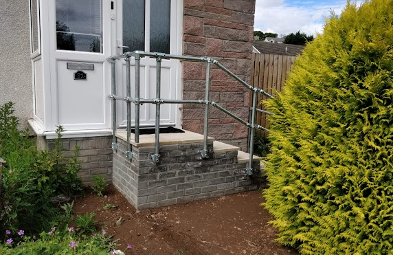 steps with brickwork