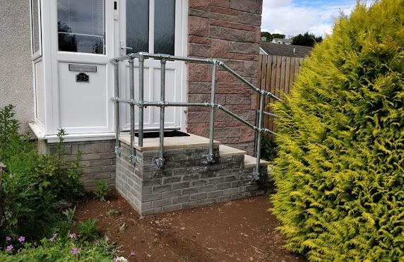 steps with brickwork