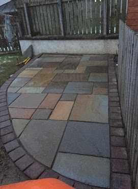Travertine Patio paving Inverness