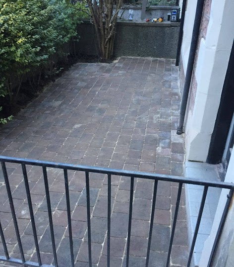 completed brick patio