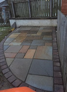 patio mosaic paving inverness