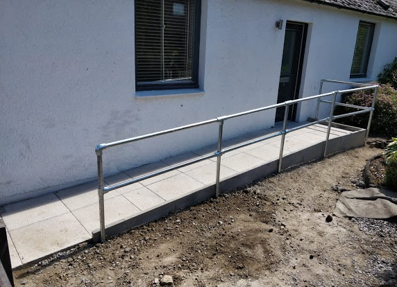 ramp slabs and paving