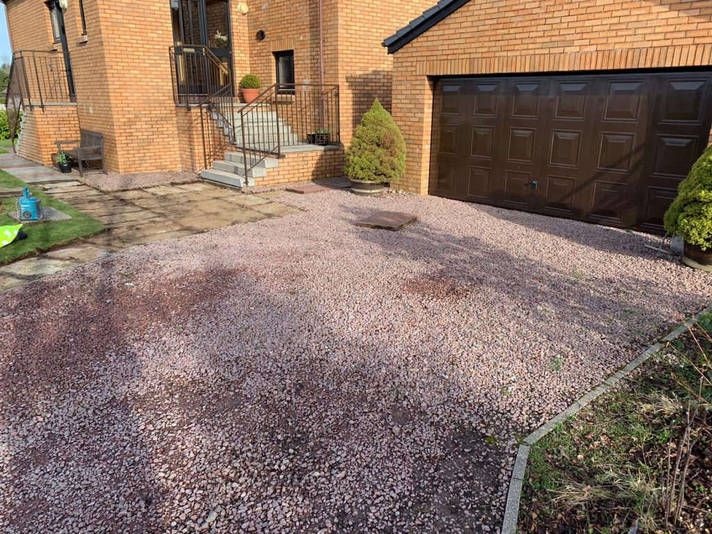 Before driveway paving