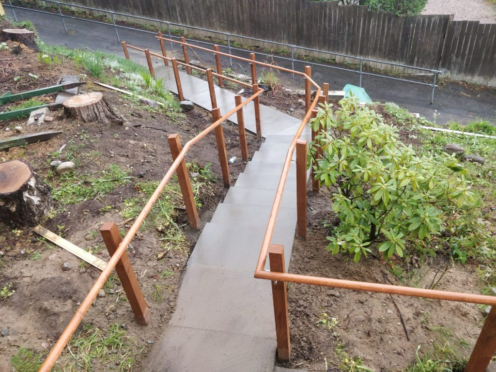 Paving Steps with rail highlands