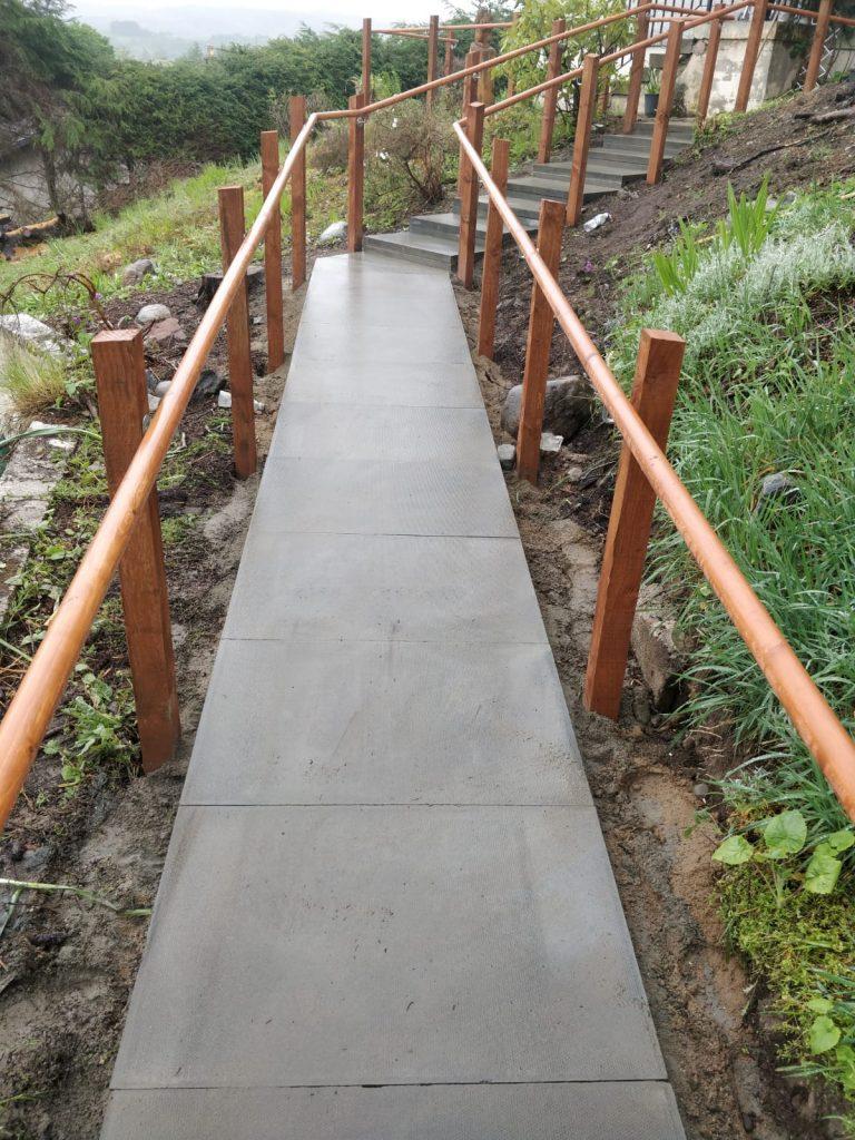 Paving slabs ramp inverness