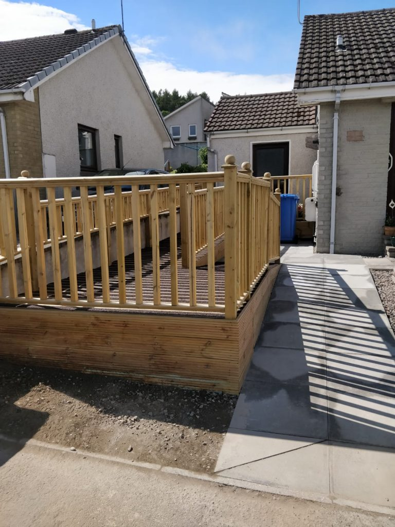 decking ramp and railing inverness