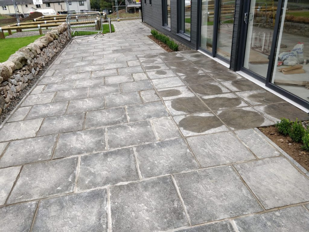 stone paving slab patio inverness